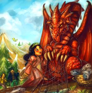 Grumpy dragon is grumpy...